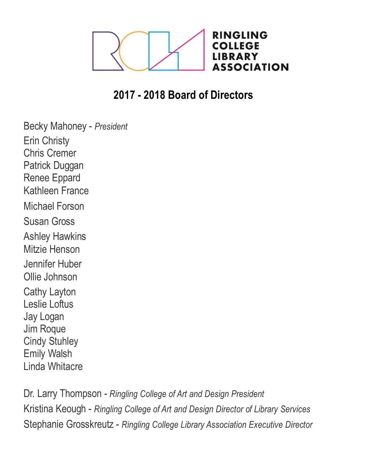 17-18 Board of Directors