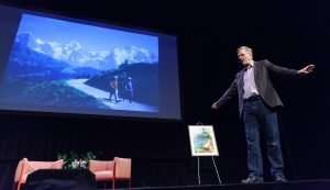 Presenter, Rick Steves at our 2020 TOWN HALL Lecture Series event in Sarasota, FL.