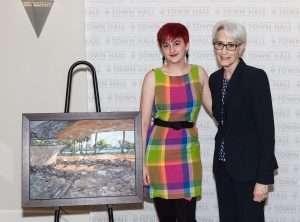 Ambassador Wendy R. Sherman and RCAD student artist, Brooke Brogan