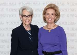 Ambassador Wendy R. Sherman and TOWN HALL Chair, Ollie Johnson