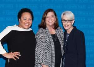 Ambassador Wendy R. Sherman, RCLA executive director, Stephanie Grosskreutz, and Yamiche Alcindor